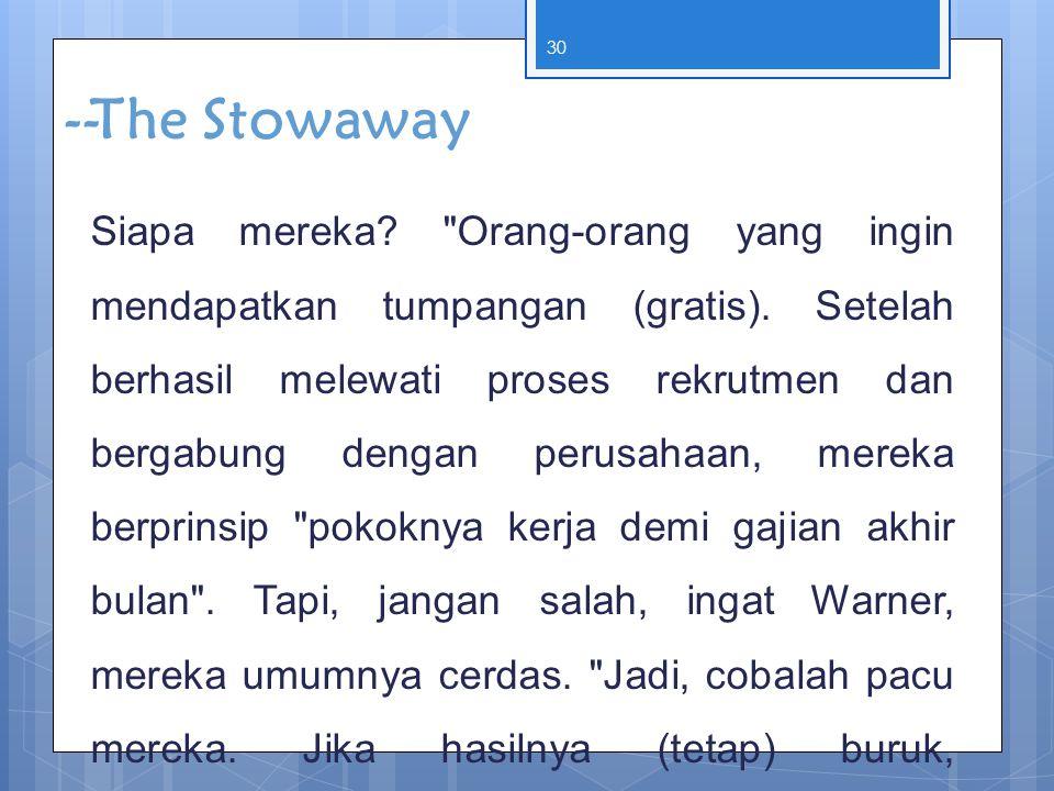 --The Stowaway