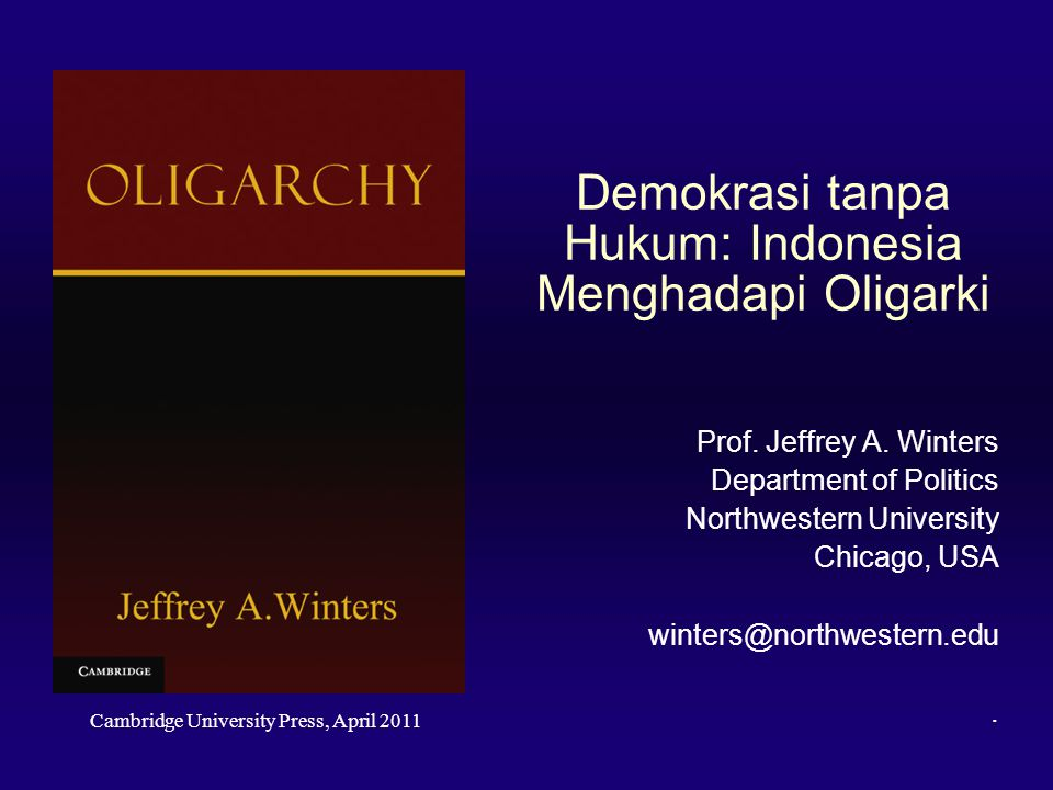 Demokrasi tanpa Hukum: Indonesia Menghadapi Oligarki