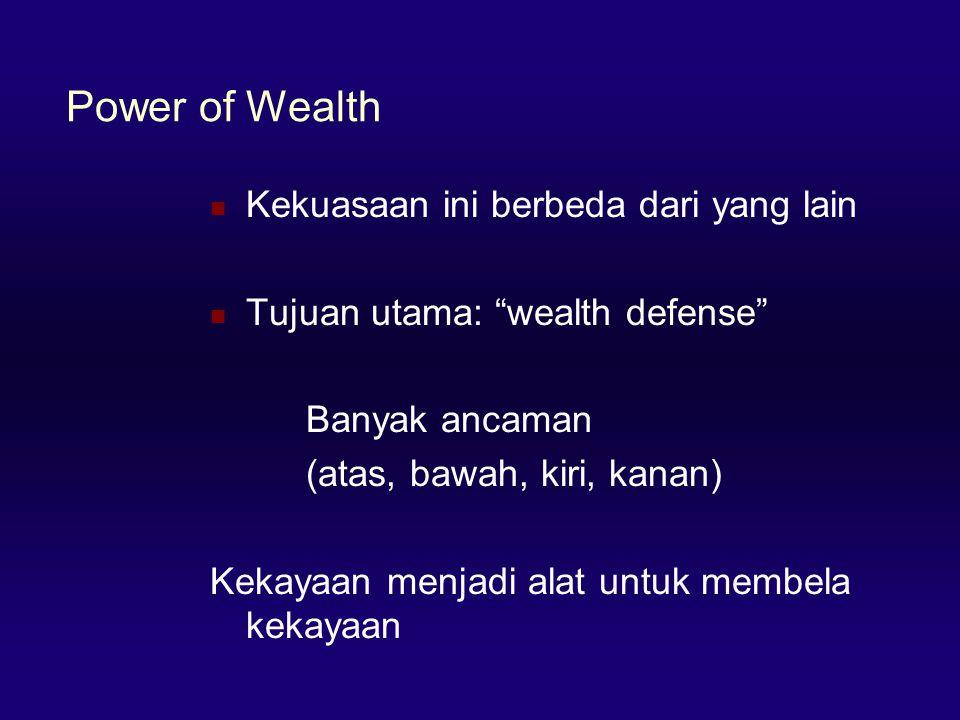 Power of Wealth Kekuasaan ini berbeda dari yang lain