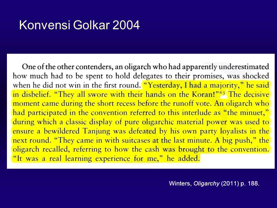 Konvensi Golkar 2004 Winters, Oligarchy (2011) p. 188.
