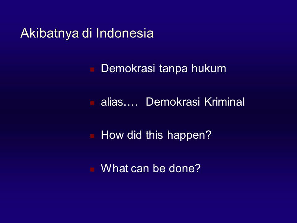 Akibatnya di Indonesia