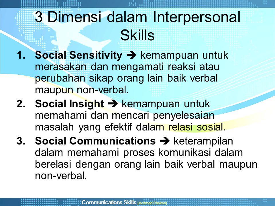 3 Dimensi dalam Interpersonal Skills