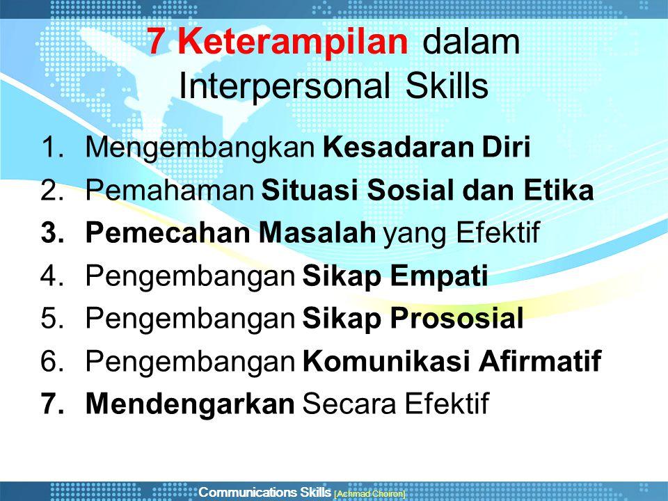 7 Keterampilan dalam Interpersonal Skills