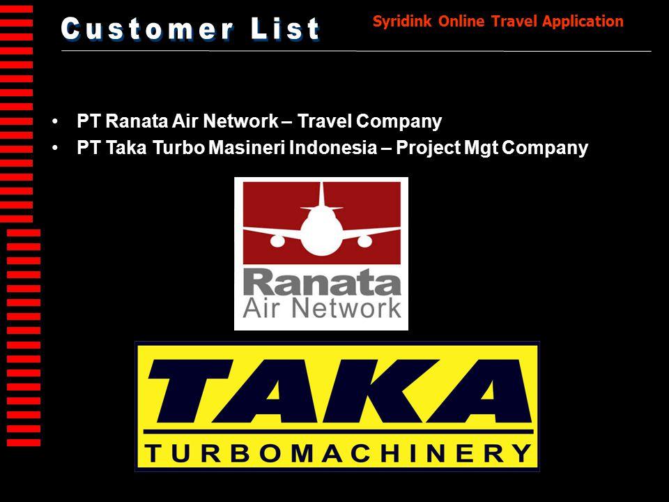 Customer List PT Ranata Air Network – Travel Company