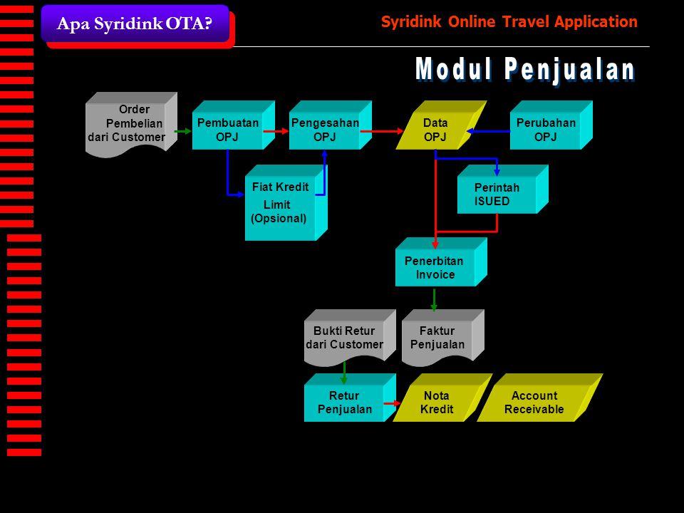 Modul Penjualan Apa Syridink OTA dari Customer Pembuatan OPJ