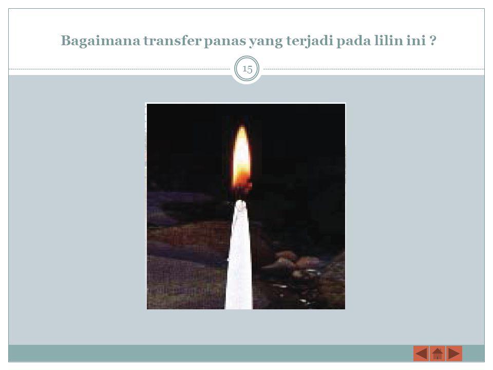 Bagaimana transfer panas yang terjadi pada lilin ini