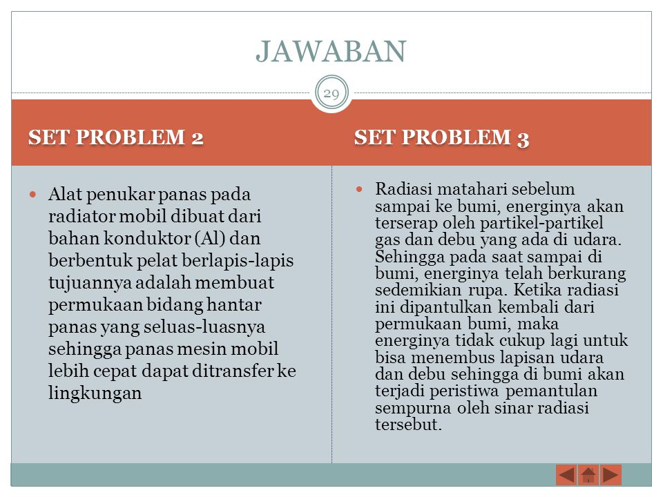 JAWABAN SET PROBLEM 2 SET PROBLEM 3