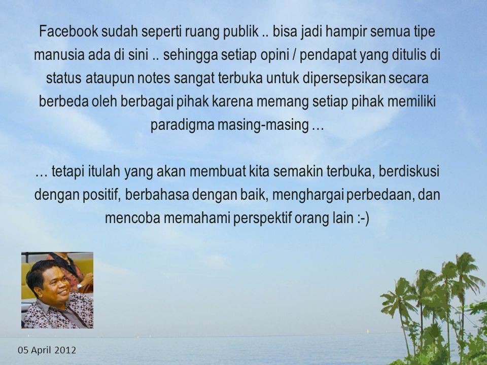 Facebook sudah seperti ruang publik