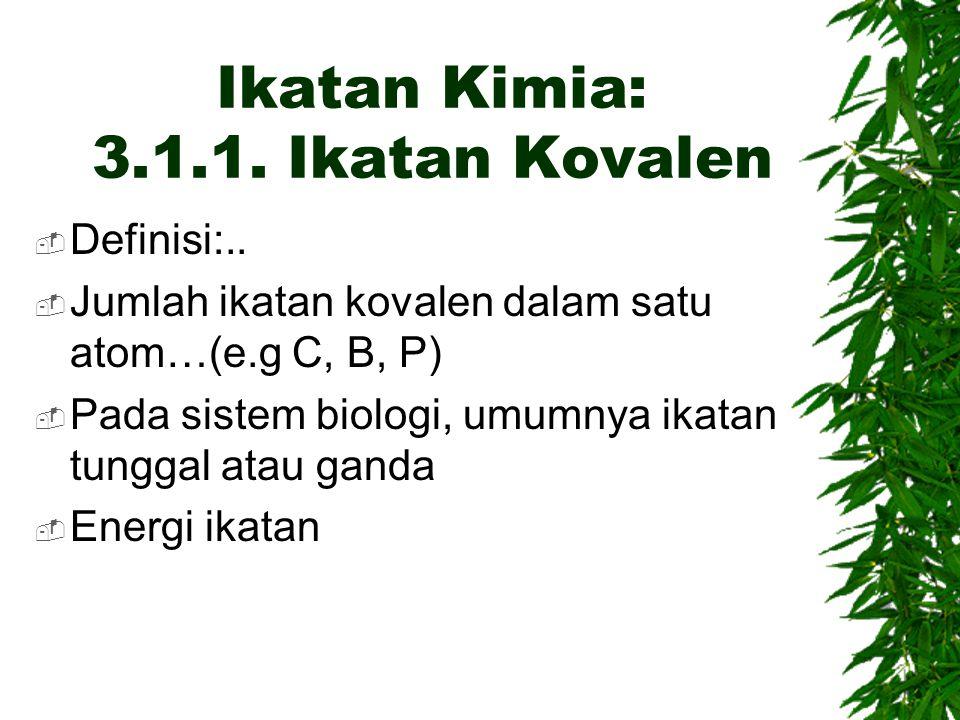 Ikatan Kimia: 3.1.1. Ikatan Kovalen