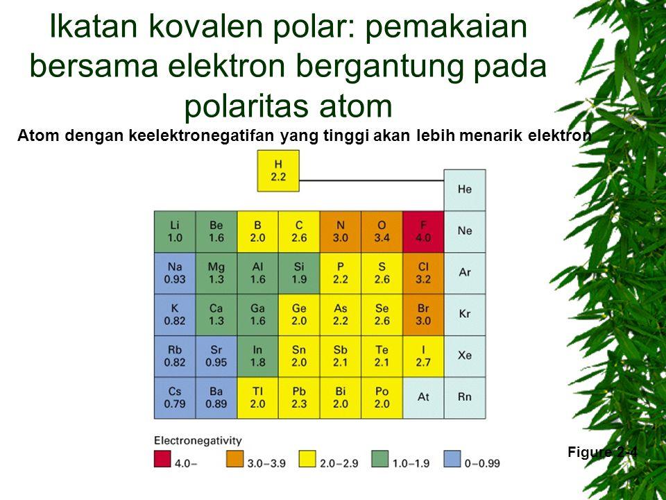 Ikatan kovalen polar: pemakaian bersama elektron bergantung pada polaritas atom