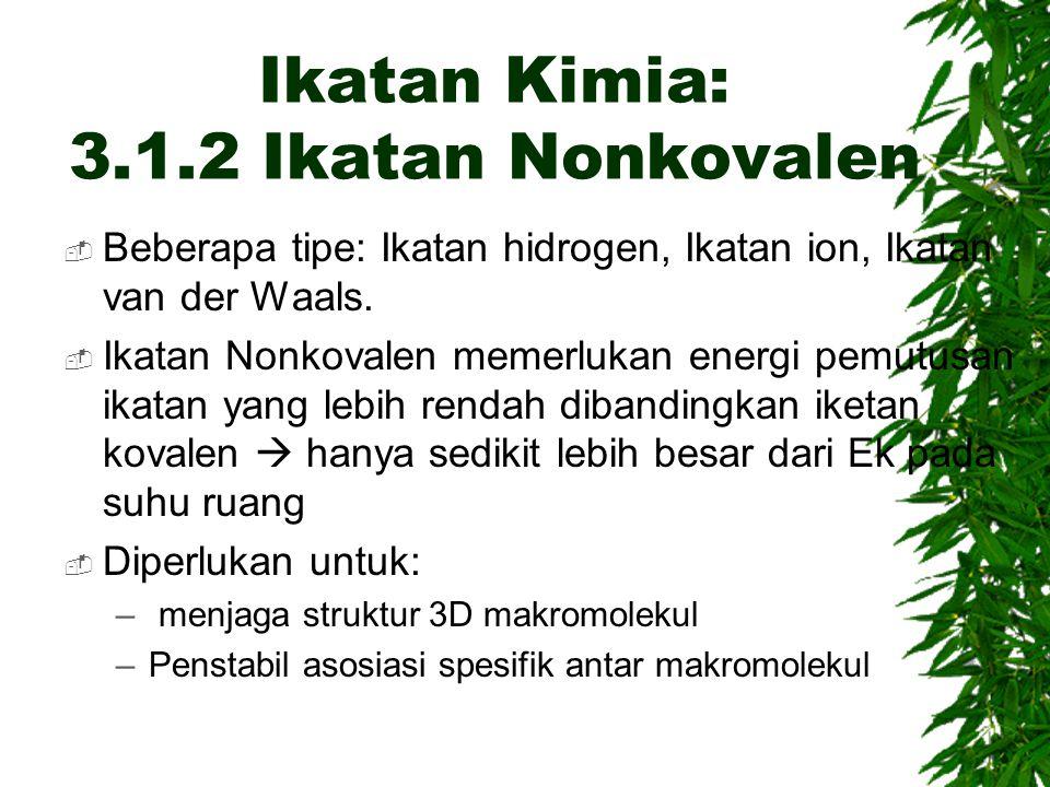 Ikatan Kimia: 3.1.2 Ikatan Nonkovalen