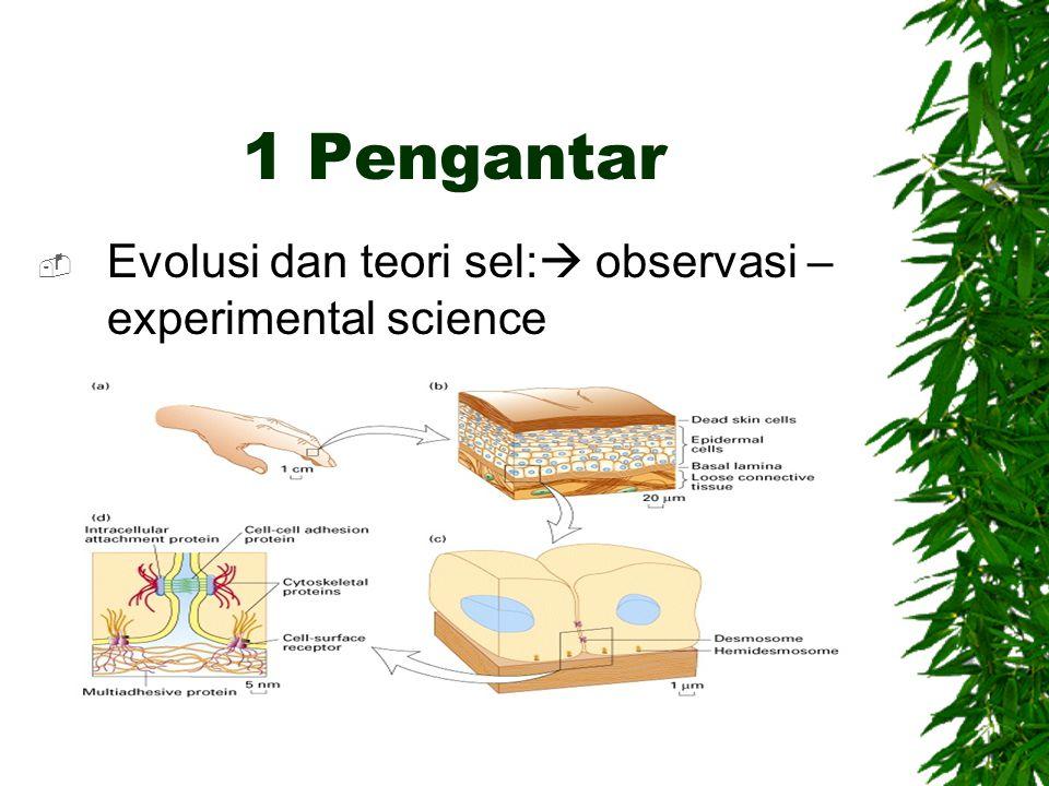 1 Pengantar Evolusi dan teori sel: observasi –experimental science