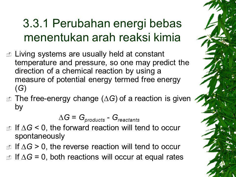 3.3.1 Perubahan energi bebas menentukan arah reaksi kimia