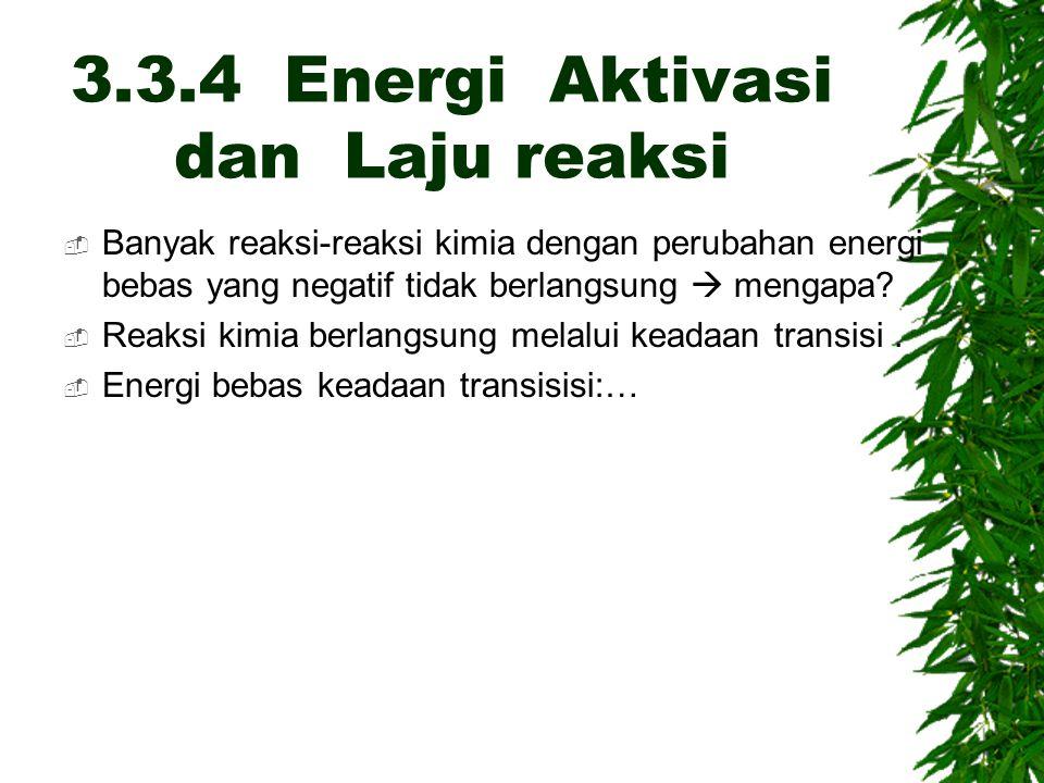 3.3.4 Energi Aktivasi dan Laju reaksi