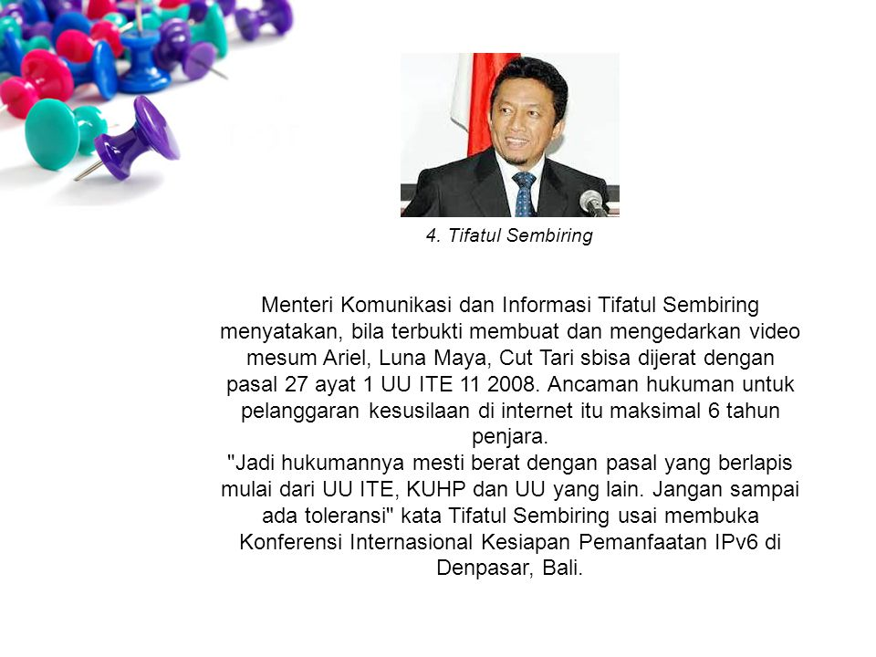 4. Tifatul Sembiring