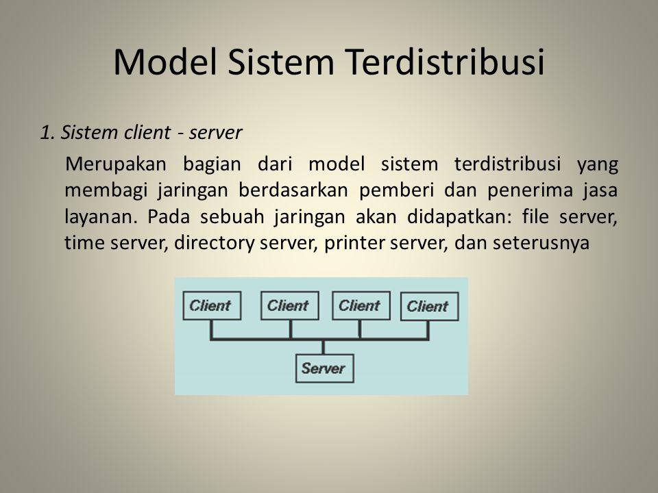 Model Sistem Terdistribusi