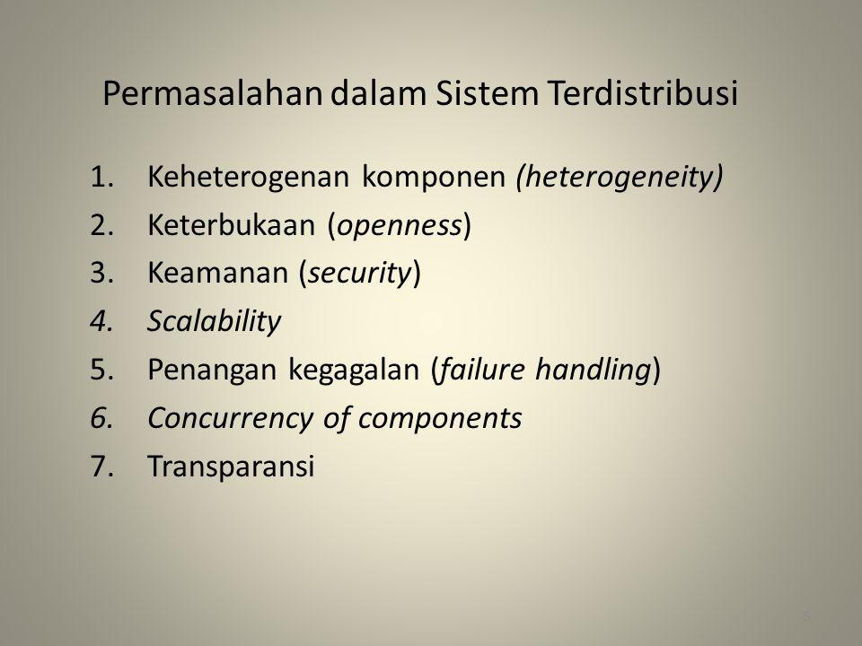 Permasalahan dalam Sistem Terdistribusi