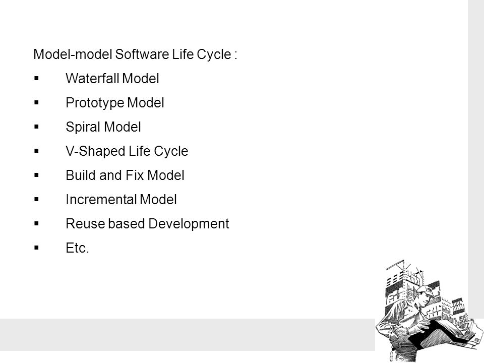 Model-model Software Life Cycle :