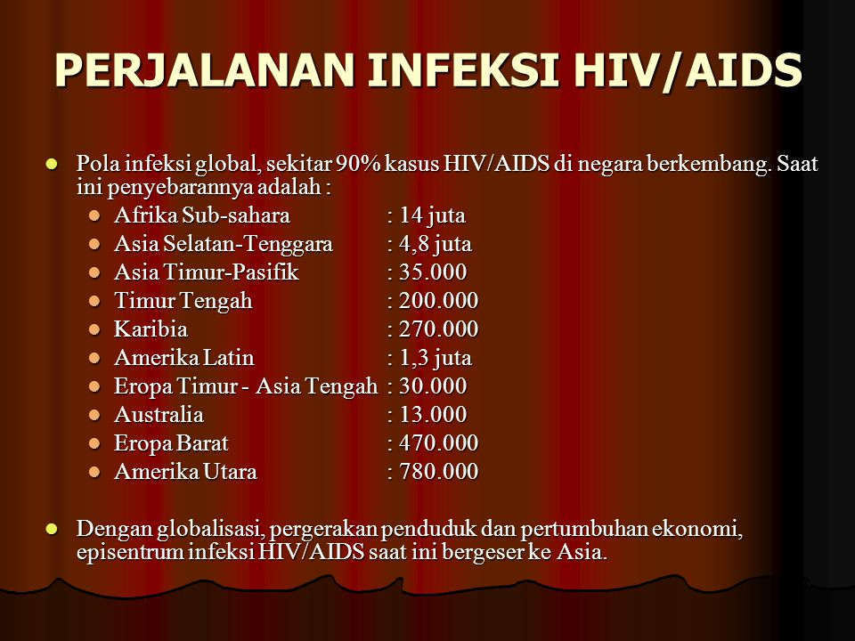 PERJALANAN INFEKSI HIV/AIDS