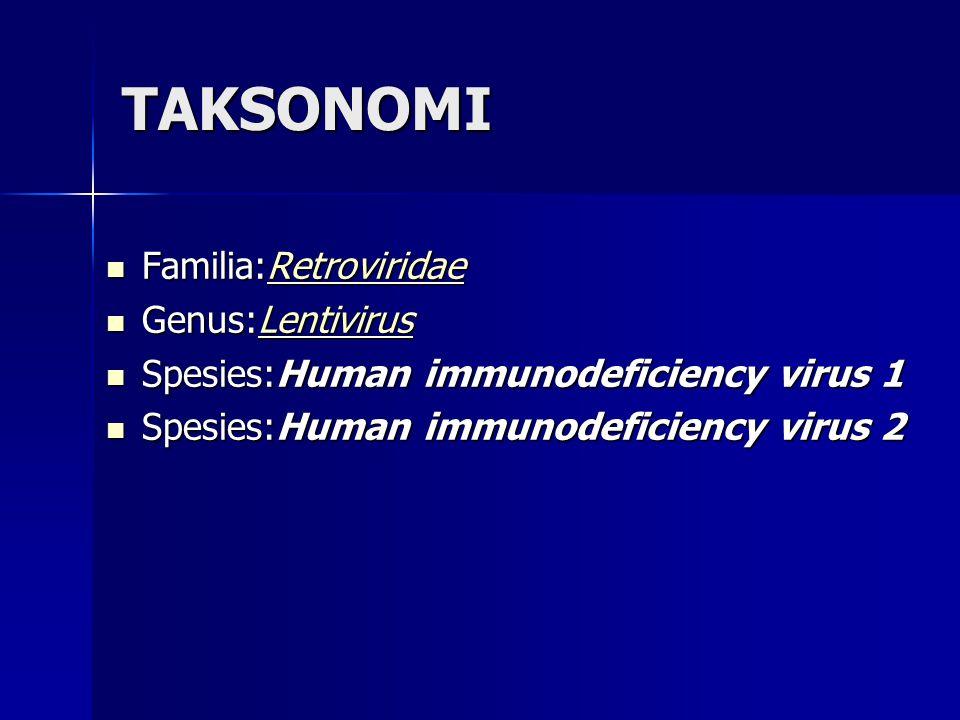 TAKSONOMI Familia:Retroviridae Genus:Lentivirus