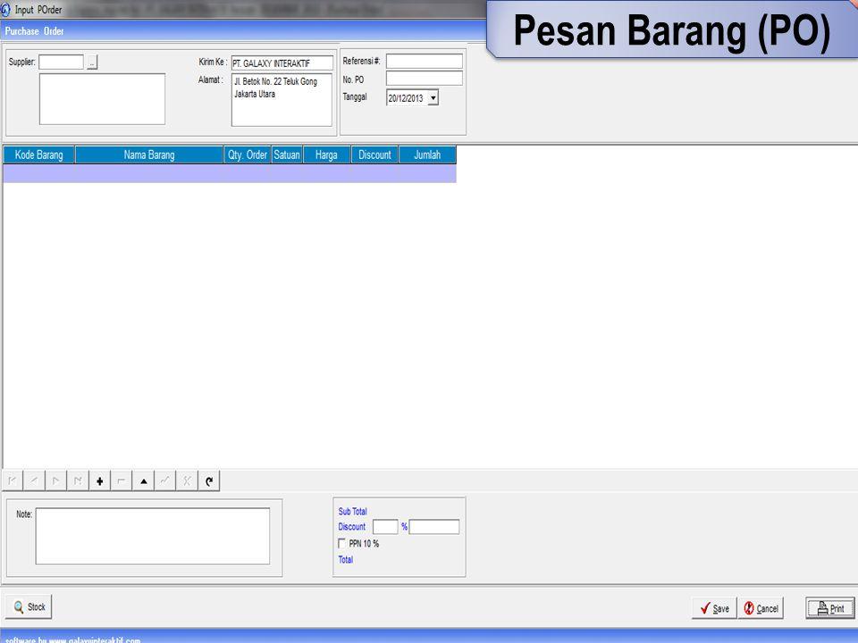 Pesan Barang (PO)