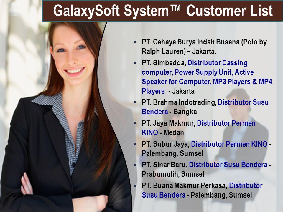 GalaxySoft System™ Customer List