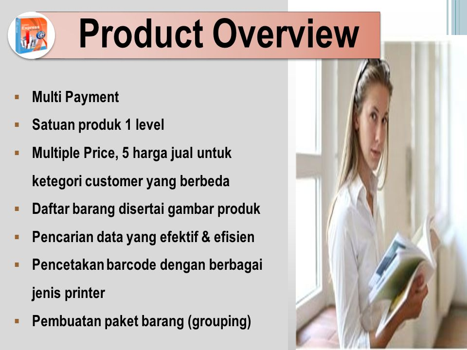Product Overview Multi Payment Satuan produk 1 level