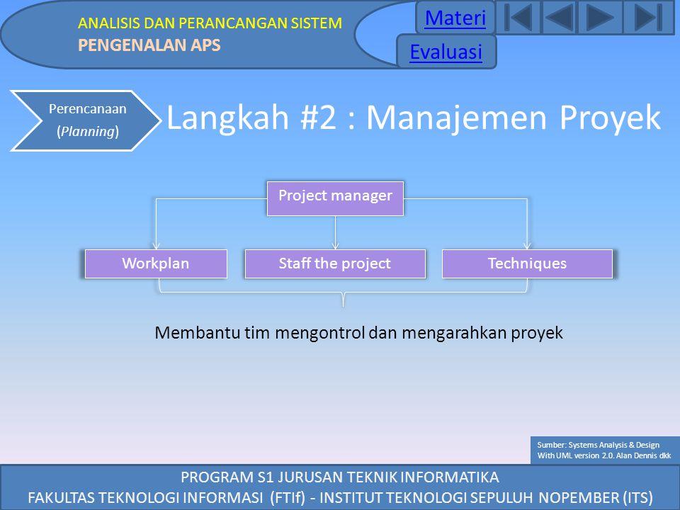 Langkah #2 : Manajemen Proyek