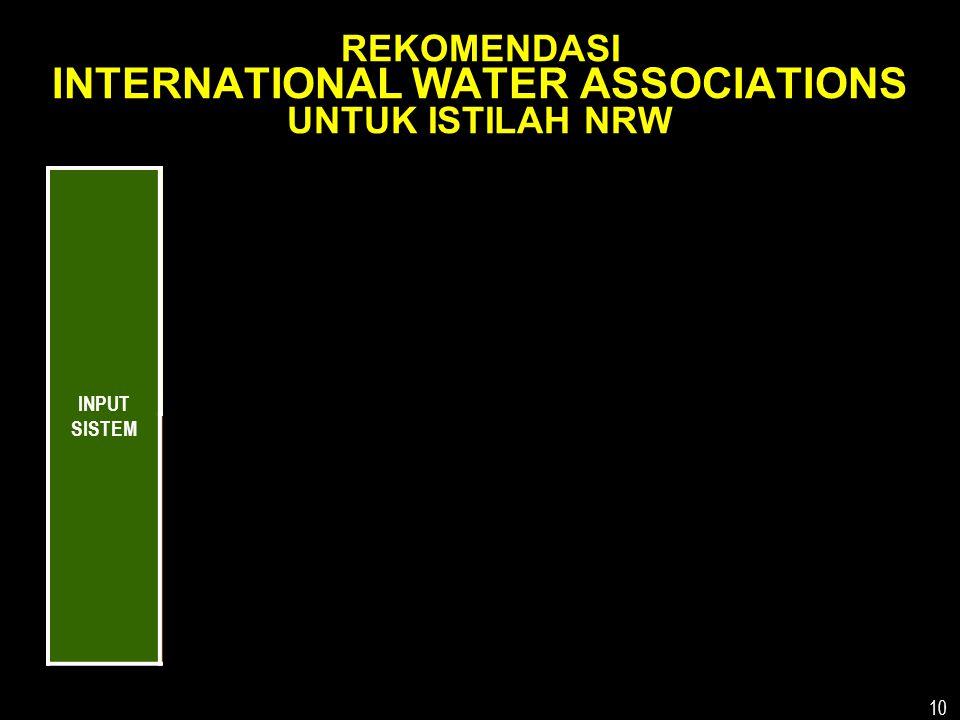 REKOMENDASI INTERNATIONAL WATER ASSOCIATIONS UNTUK ISTILAH NRW