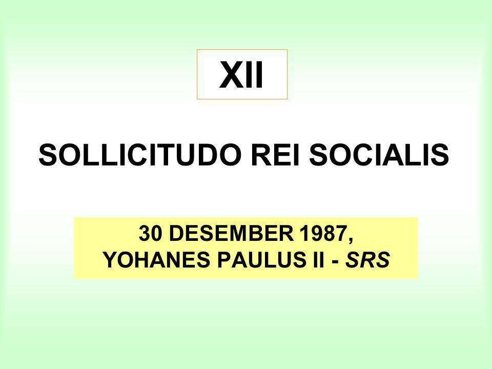 SOLLICITUDO REI SOCIALIS