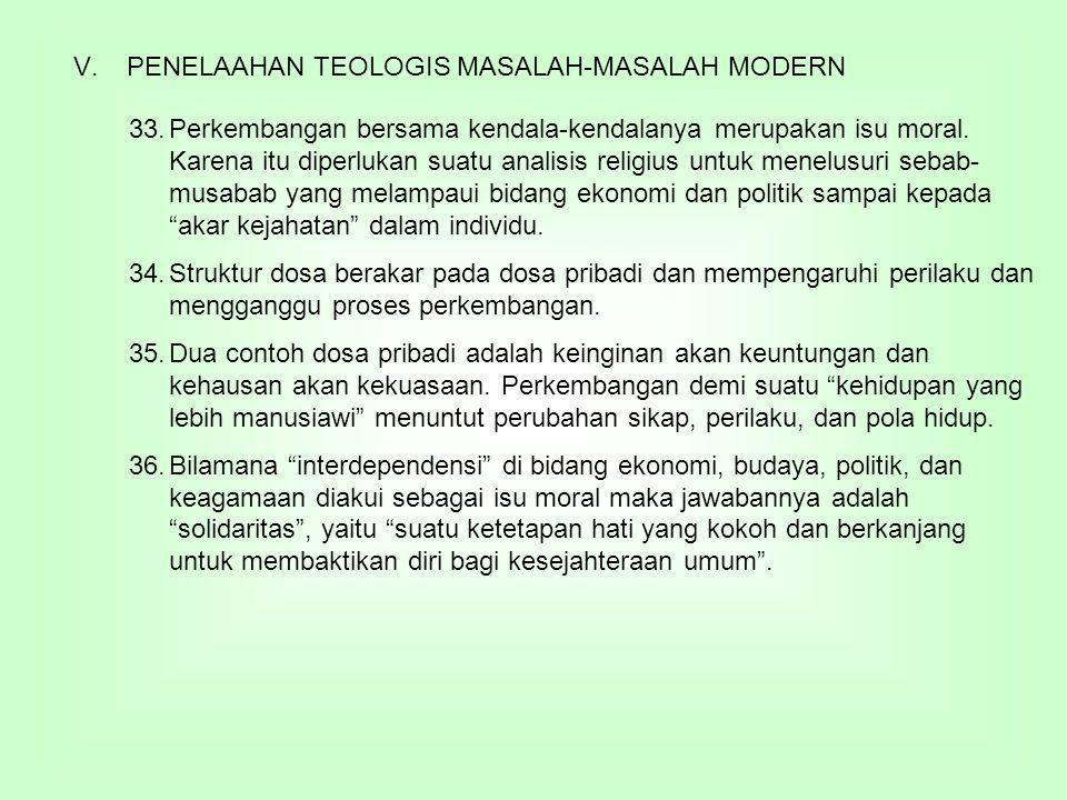 PENELAAHAN TEOLOGIS MASALAH-MASALAH MODERN