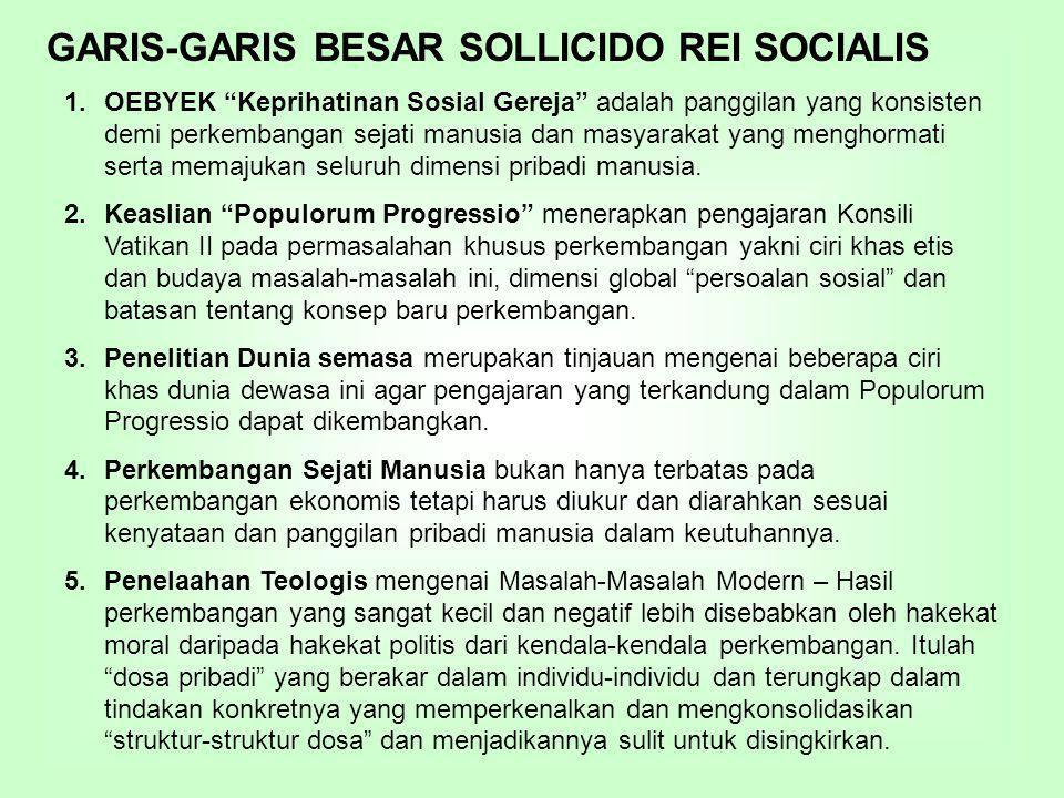 GARIS-GARIS BESAR SOLLICIDO REI SOCIALIS