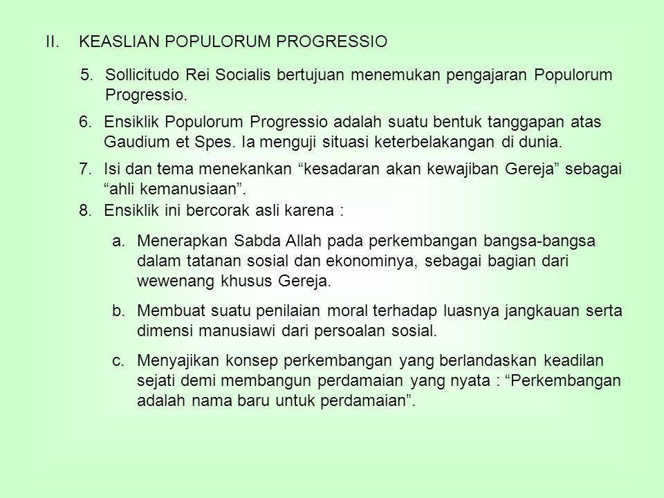 KEASLIAN POPULORUM PROGRESSIO