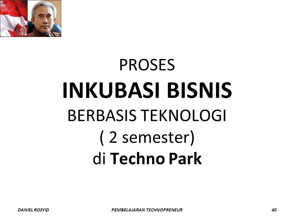 PROSES INKUBASI BISNIS BERBASIS TEKNOLOGI ( 2 semester) di Techno Park