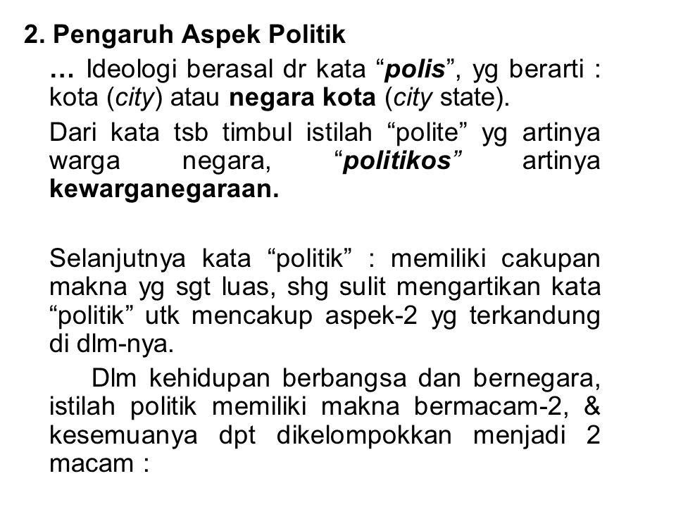 2. Pengaruh Aspek Politik