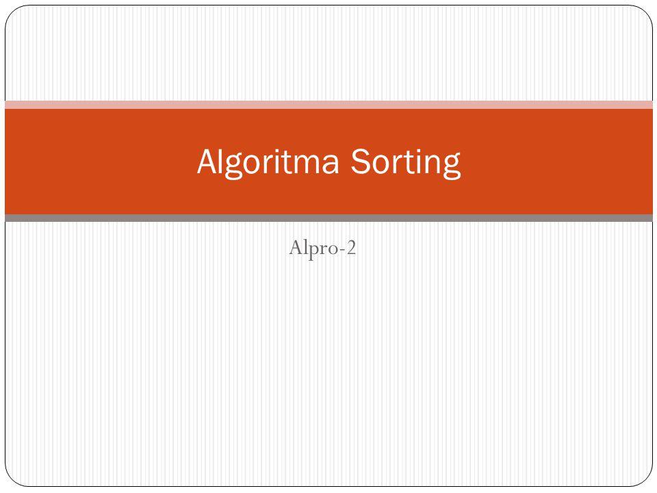 Algoritma Sorting Alpro-2