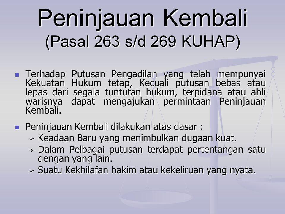Peninjauan Kembali (Pasal 263 s/d 269 KUHAP)