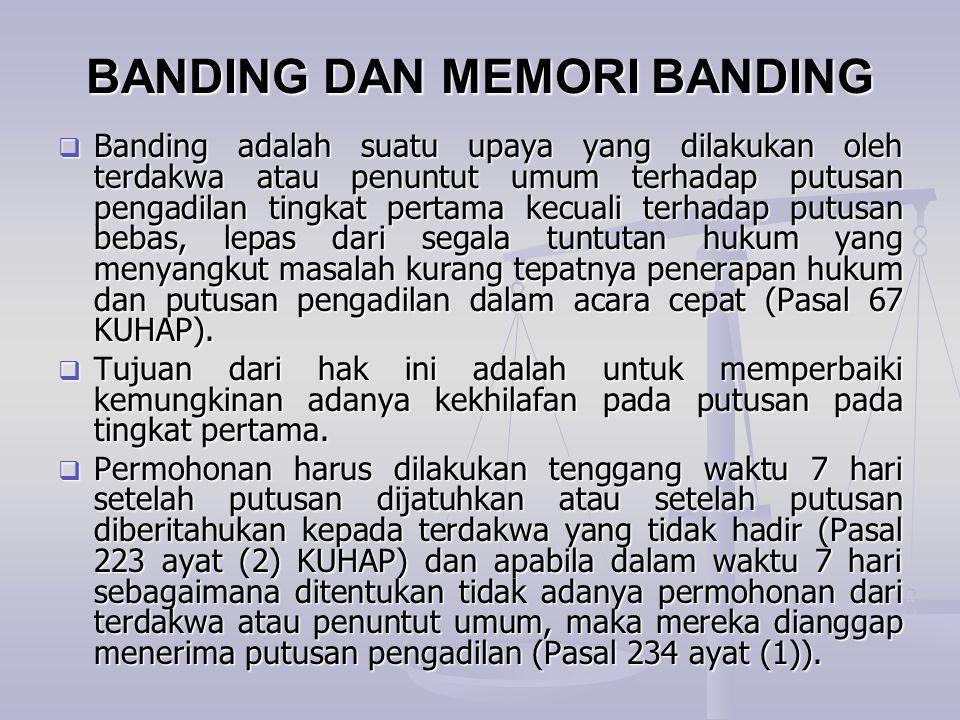 BANDING DAN MEMORI BANDING