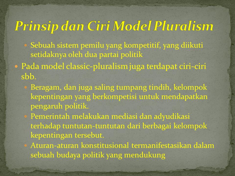 Prinsip dan Ciri Model Pluralism