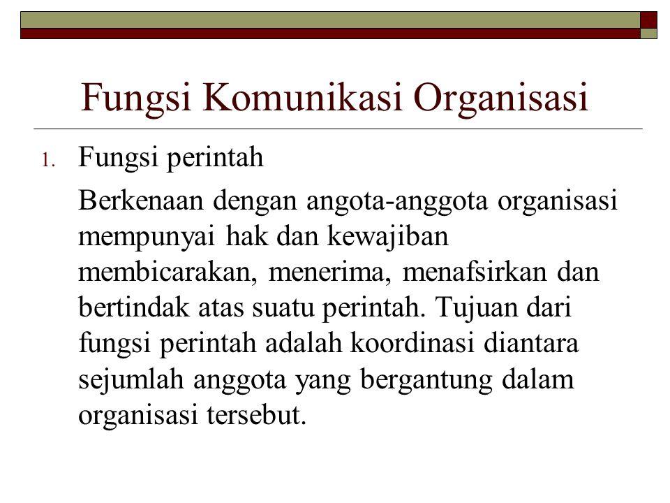 Fungsi Komunikasi Organisasi
