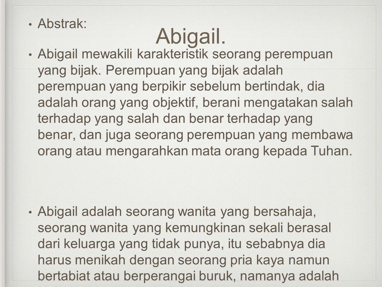 Abigail. Abstrak: