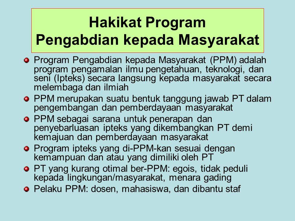 Hakikat Program Pengabdian kepada Masyarakat