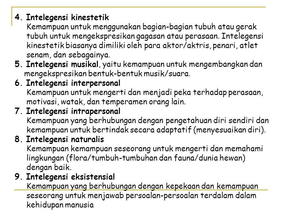 4. Intelegensi kinestetik