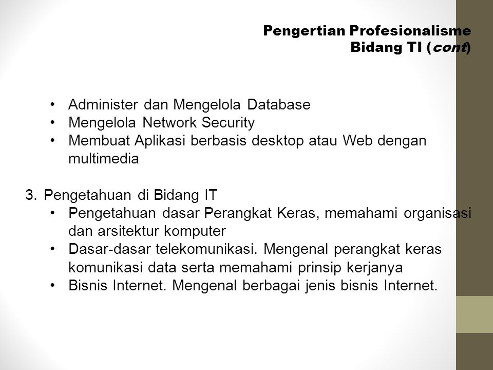 Administer dan Mengelola Database Mengelola Network Security
