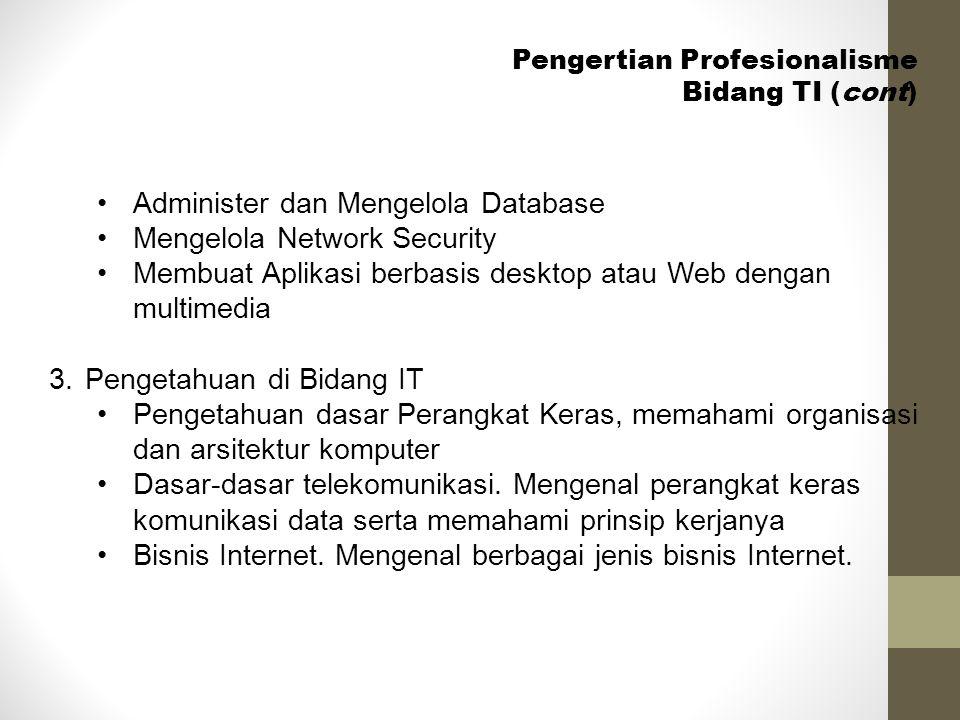 Administer dan Mengelola Database Mengelola Network Security