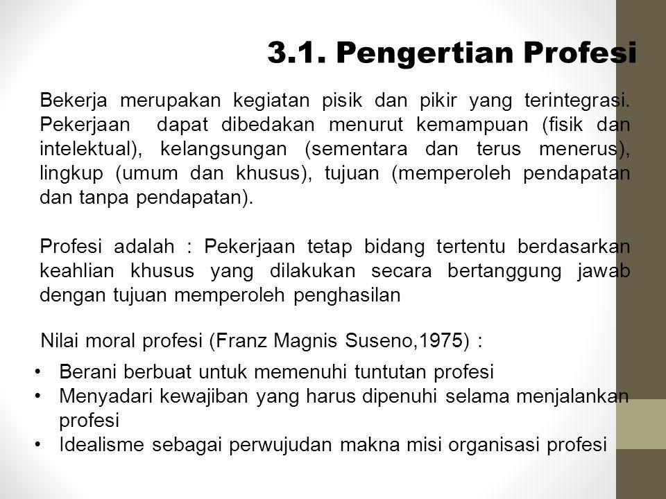3.1. Pengertian Profesi