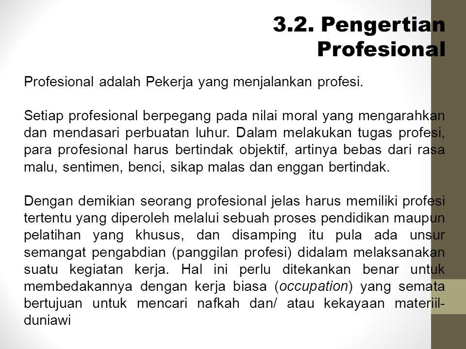 3.2. Pengertian Profesional