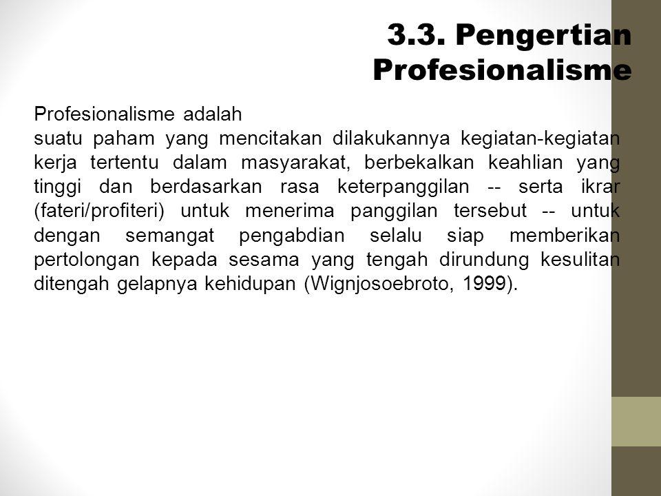 3.3. Pengertian Profesionalisme