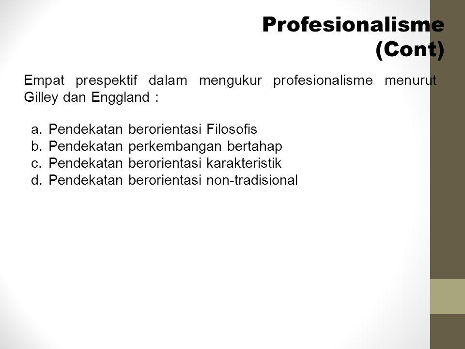 Profesionalisme (Cont)