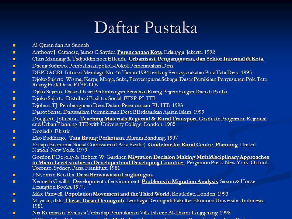 Daftar Pustaka Al-Quran dan As-Sunnah